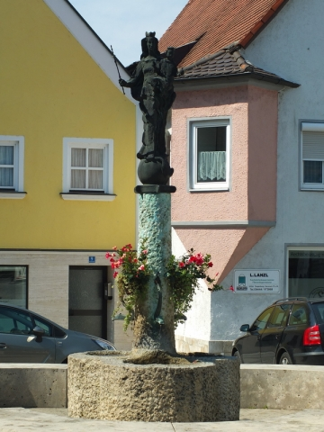 fountain in Abensberg center