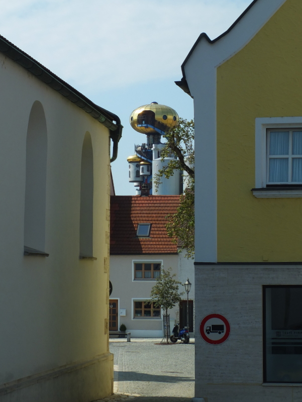 crazy architecture of the Kuchlbauer brewery tower