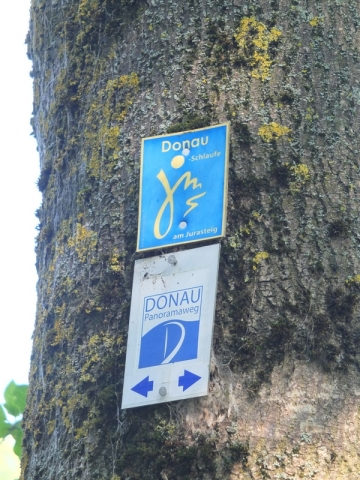 route markers for the Danube bikeway