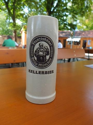 Franzikaner Kellerbier at Kloster Biburg Biergarten