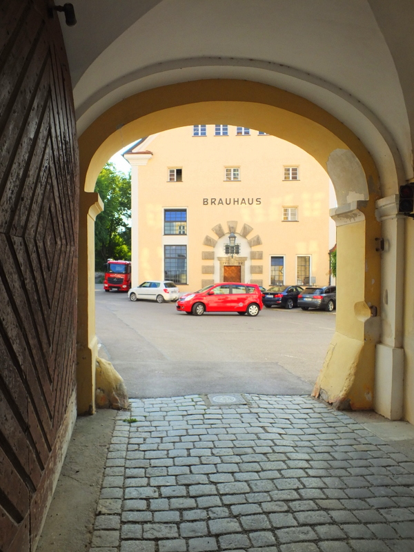 the brauhaus is just outside the courtyard