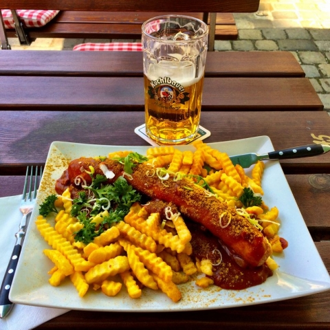 Currywurst and a beer