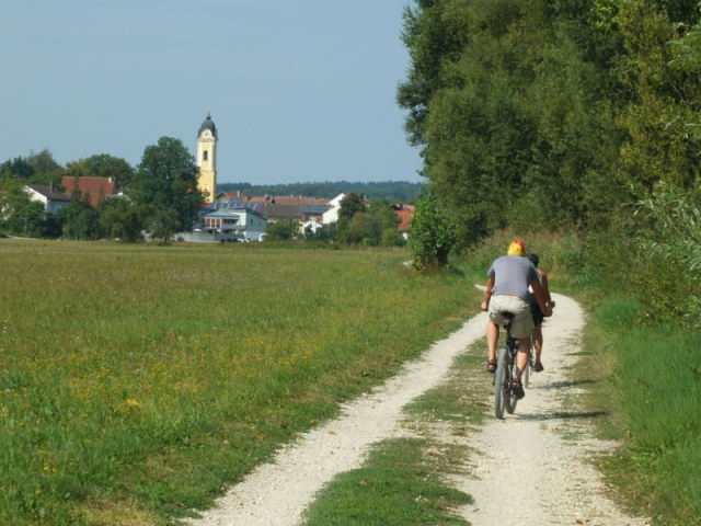 on the Danube bikeway