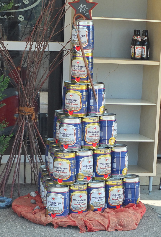 many-mini-kegs on display