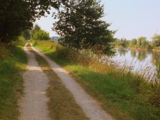 on the Danube bikeway
