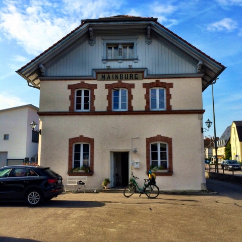 my pension in Mainburg - creative reuse of the defunct train station