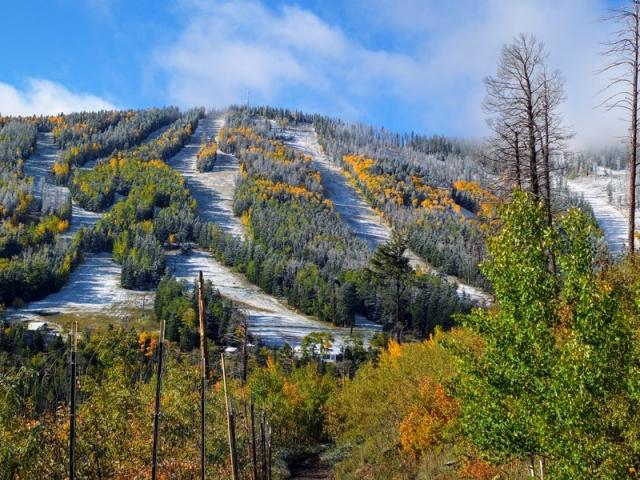 Pajarito Mountain from Canada Bonita trail - Santa Fe National Forest