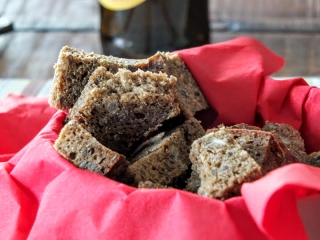 Fresh baked bread snack