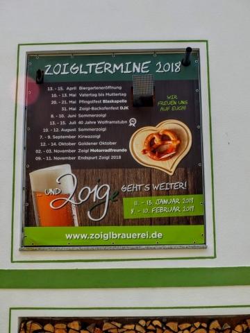 Wolframstubn Zoiglstube schedule