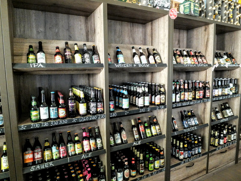 impressive craft beer selection