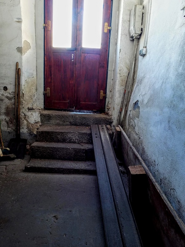 most supplies are wheeled in through the front door