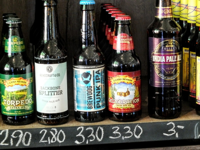 impressive craft beer selection