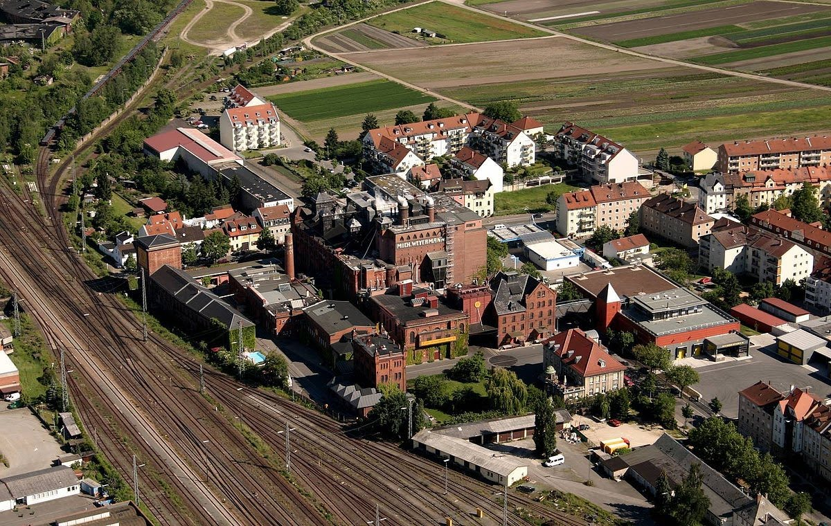 aerial view of the Weyermann Malzfabrik campus