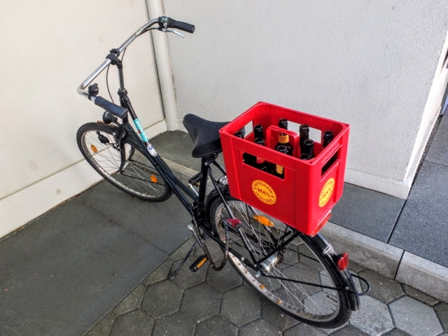 bike rigged for beer