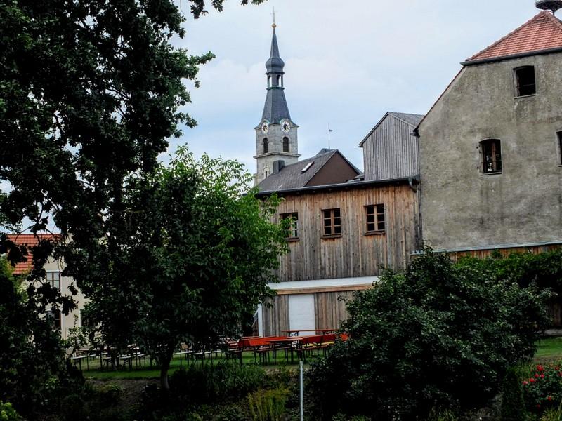 Holy Spirit Church steeple in Neuhaus