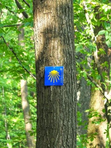 Jakob's Weg route marker