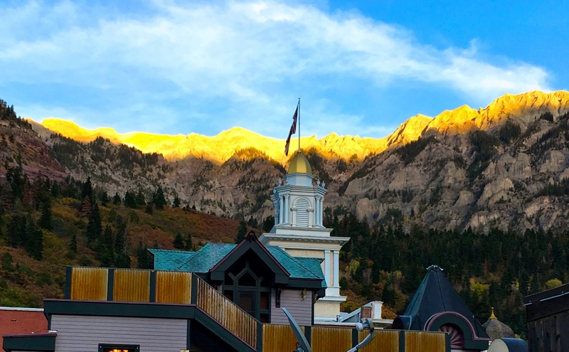 a view from the rooftop at Ouray Brewery