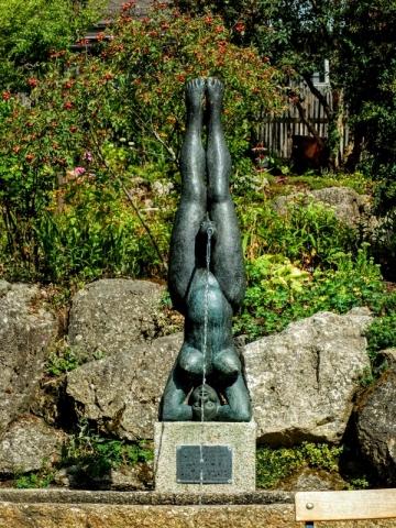 unusual sculpture at Schafferhof Zoiglstube