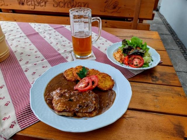 dinner at Zum weißen Schwan Gasthof