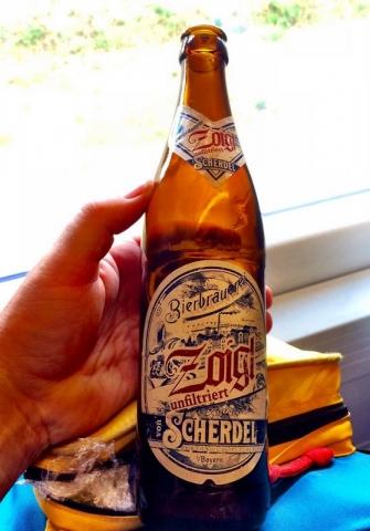 non-echter Zoigl from the Scherdel Beer Co. in Hof