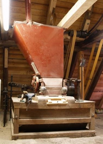 Malt Mill in the attic