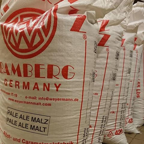 bags of malted barley