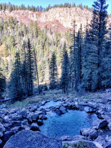 view across canyon
