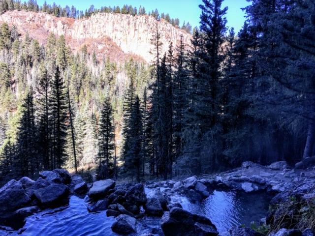 view across canyon