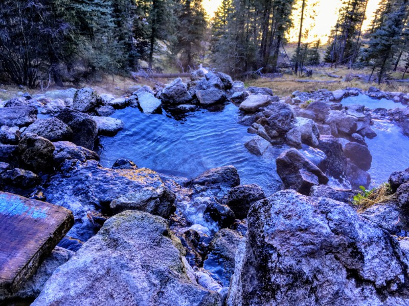 view down canyonside