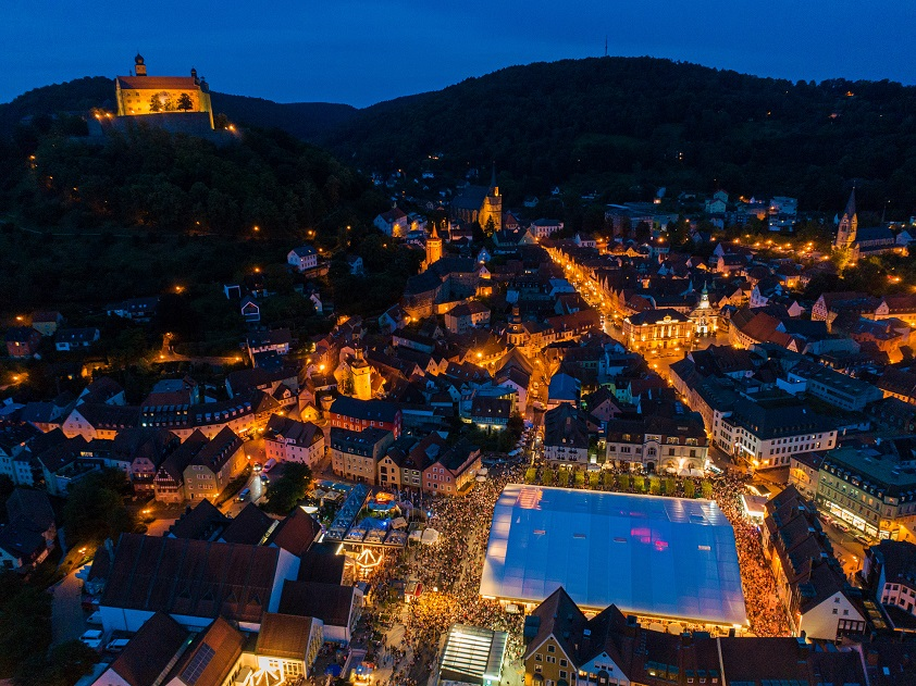 Kulmbacher Bierwoche Stadl at Night