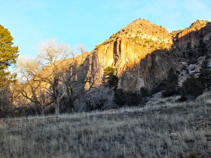 sun peaking over the ridge
