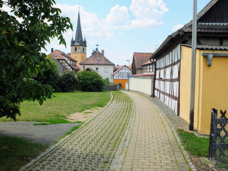 entering a village