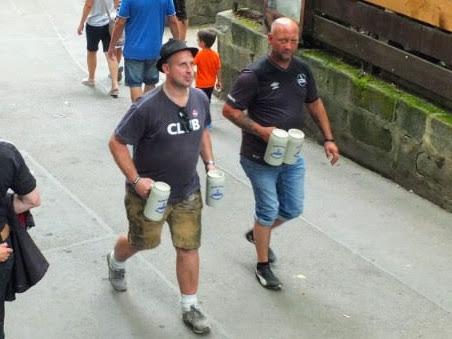 strong-armed festival goers