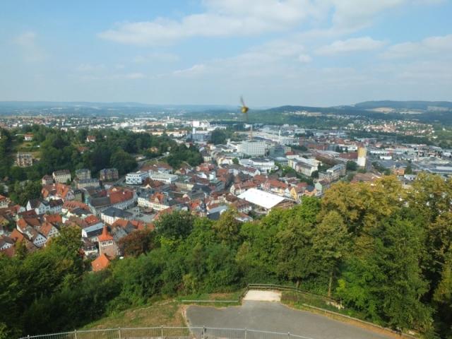 West view from Plassenberg Castle