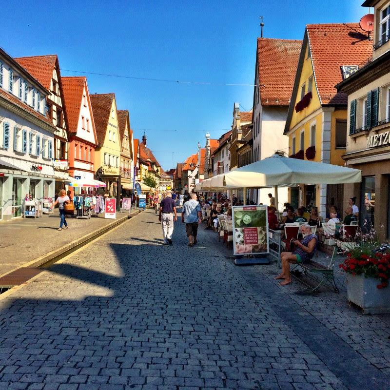 near the market in Forcheim center