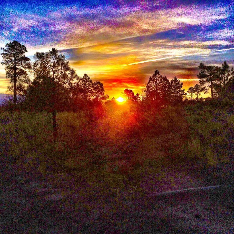 sunrise on Burnt Mesa