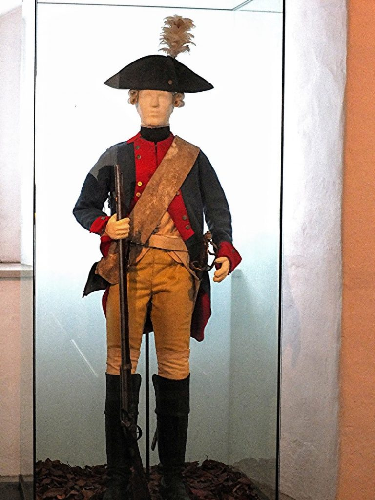 typical Hessian soldier uniform