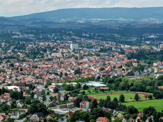 view from Bismarkturm - a tower on a hilltop near Eschewege