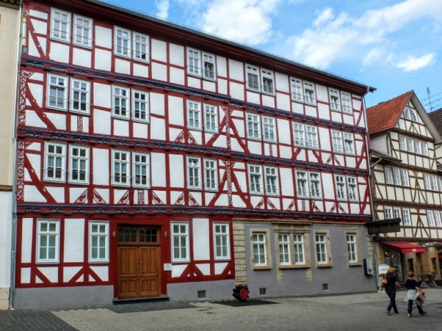 a town of beautiful half timbered buildings