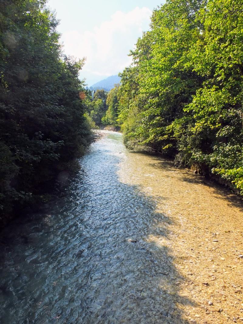 Partnach flowing through Garmisch