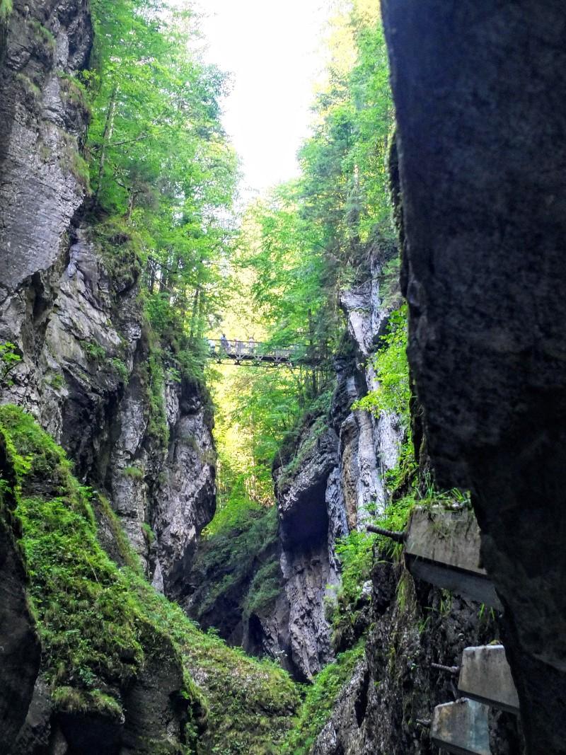 iron bridge above the gorge