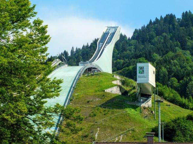 ski jump at Olympic Stadium