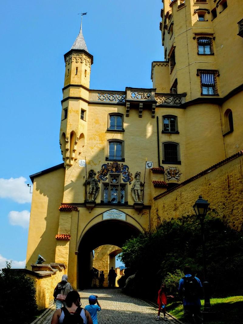 entering Schloss Hohenschwangau