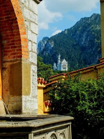 Neuschwanstein Castle viewed from Schloss Hohenschwangau