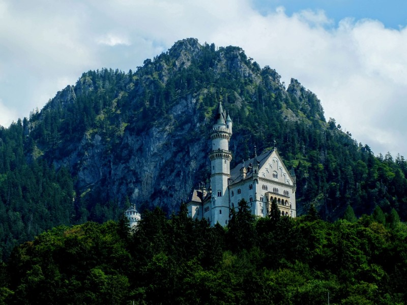passing below Neuschwanstein Castle