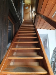 stairs to attic sleeping area