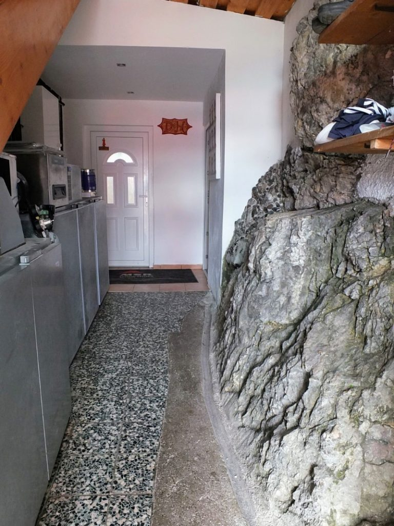 built into the rock