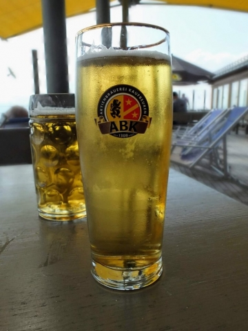 A Radler and a Helles (quenching a big thirst)