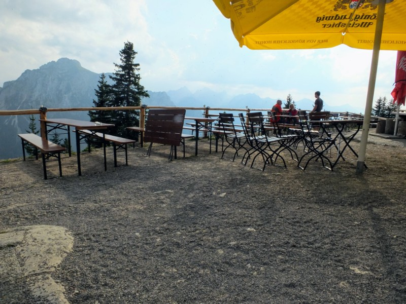 terrace at Tegelberghaus