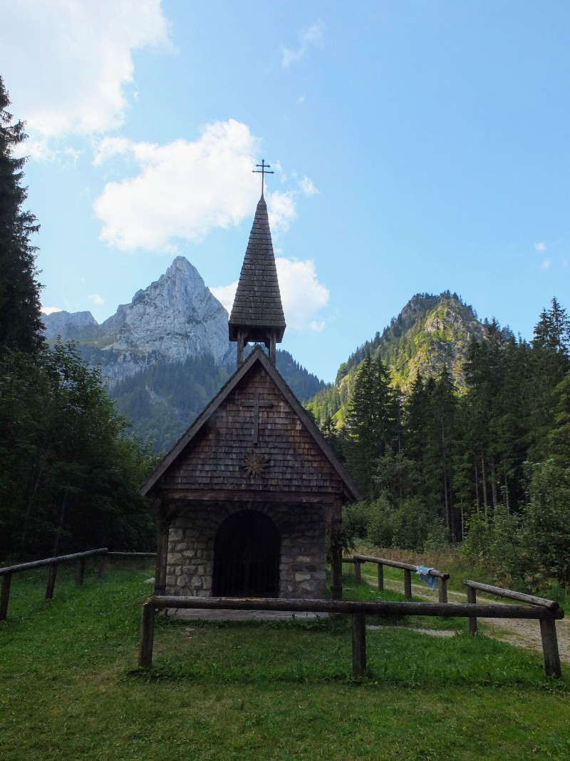 Wankerfleck memorial chapel in honor of injured mountaineers
